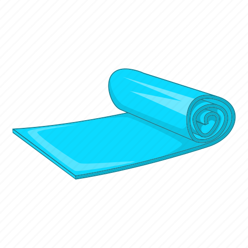 Cartoon, fitness, mat, object, sign, sport, yoga icon - Download on Iconfinder