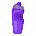 cartoon, drink, energy, plastic, sport, sport bottle, water icon