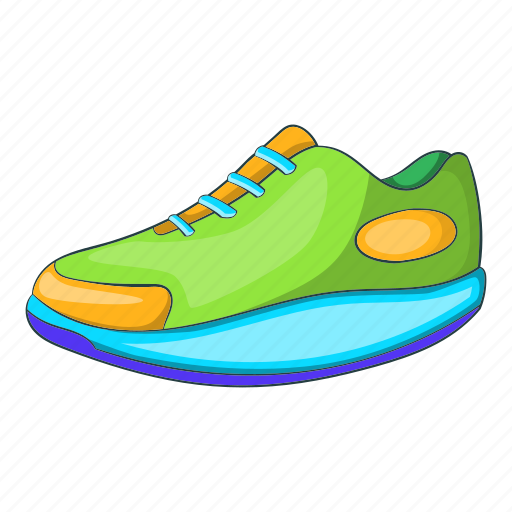 Athletic, cartoon, footwear, shoe, sign, sneaker, sport icon - Download on Iconfinder