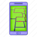 app, cartoon, mobile, object, sign, smartphone, sport icon