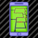 app, cartoon, mobile, object, sign, smartphone, sport