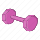 cartoon, dumbbell, fitness, object, sign, sport, weight icon