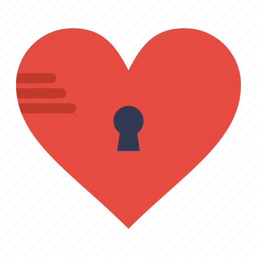 Heart, like, lock, love, secure icon - Download on Iconfinder