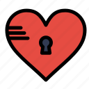 heart, like, lock, love, secure icon