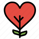 heart, like, love, plant, tree icon