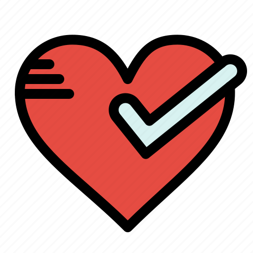 good, heart, love, ok, tick icon