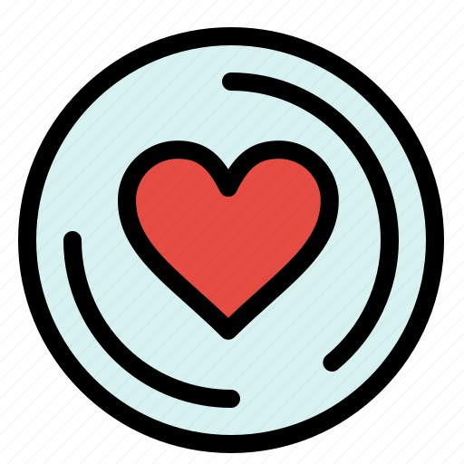 cd, heart, love icon