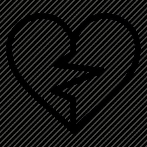 Broken, favorite, heart, like, love icon - Download on Iconfinder