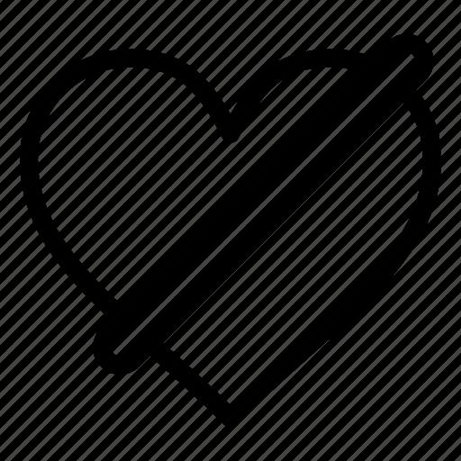 access, denied, heart, like, love icon