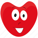 character, happy, heart, smile icon