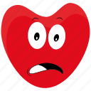 angry, bad, emotions, heart, person, sad icon