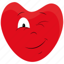 character, day, heart, kiss, love, valentines icon