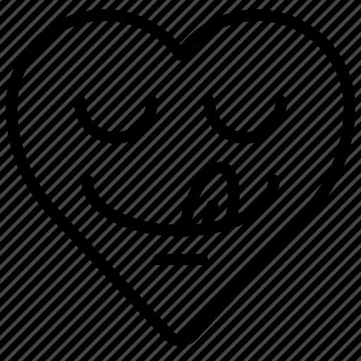 Emoji Emotion Heart Tasty Yummy Icon