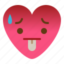 bad, emoji, hot, tired
