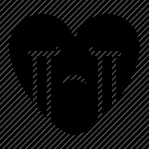 crying, emoji, sad, unhappy icon