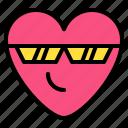 cool, emoji, feeling, sunglass icon