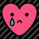 crying, drop, emoji, sad
