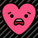 confused, emoji, fear, worry icon