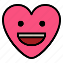 emoji, grinning, smile, teeth icon