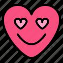 emoji, greatful, heart, love icon
