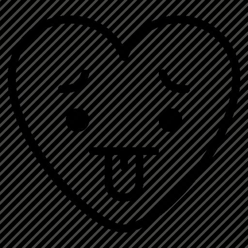bad, emoji, hot, tired icon