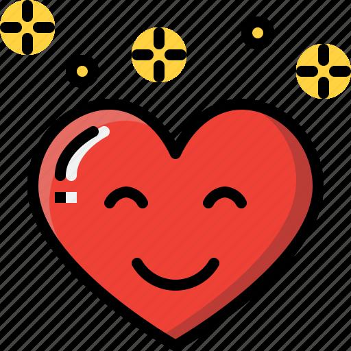 emoji, emotion, feeling, happy, heart, love, valentine icon