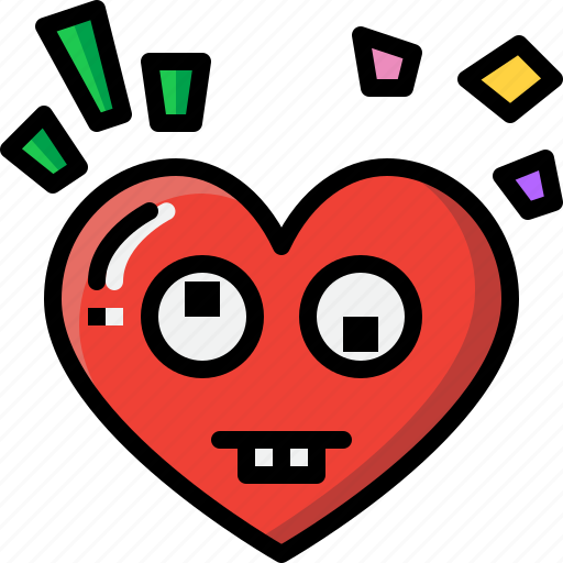 Emoji, emotion, feeling, goofy, heart, love, valentine icon - Download on Iconfinder