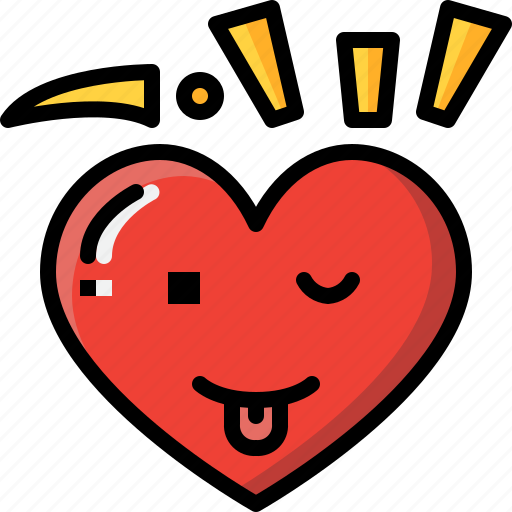 Emoji, emotion, feeling, funny, heart, love, valentine icon - Download on Iconfinder
