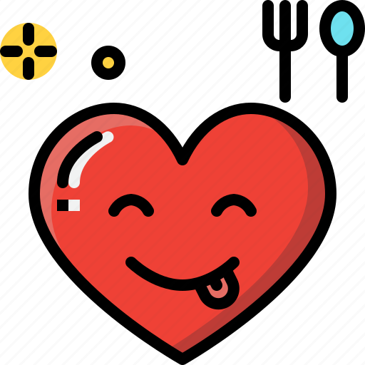 emoji, emotion, feeling, heart, love, tasty, valentine icon