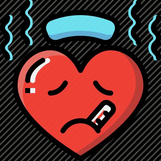 Emoji, emotion, feeling, heart, love, sick, valentine icon - Download on Iconfinder