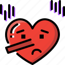 emoji, emotion, feeling, heart, love, lying, valentine icon