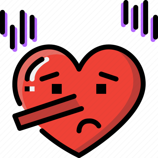 Emoji, emotion, feeling, heart, love, lying, valentine icon - Download on Iconfinder
