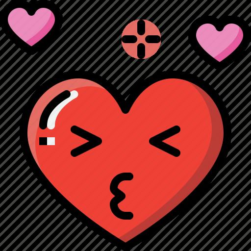 Emoji, emotion, feeling, heart, kiss, love, valentine icon - Download on Iconfinder