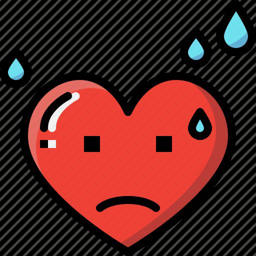 Emoji, emotion, feeling, heart, love, valentine, worry icon - Download on Iconfinder