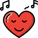 confident, emoji, emotion, feeling, heart, love, valentine icon