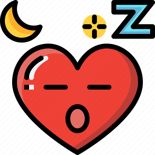 Emoji, emotion, feeling, heart, love, sleepy, valentine icon - Download on Iconfinder