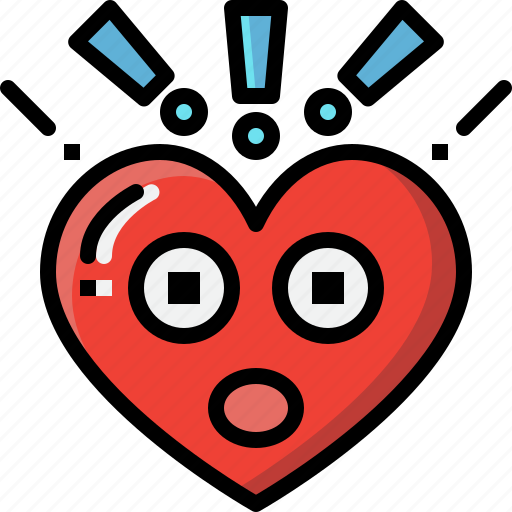 Emoji, emotion, feeling, heart, love, surprised, valentine icon - Download on Iconfinder