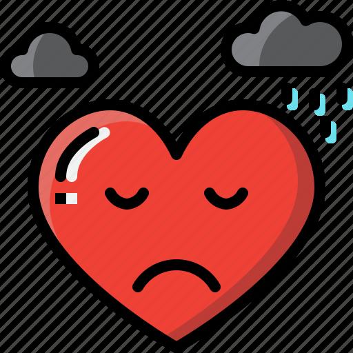 Emoji, emotion, feeling, heart, love, sad, valentine icon - Download on Iconfinder
