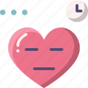 bored, emoji, emotion, feeling, heart, love, valentine