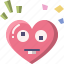 emoji, emotion, feeling, goofy, heart, love, valentine
