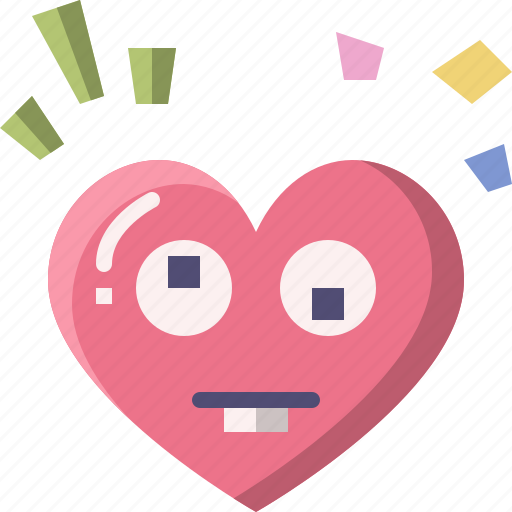 Emoji, emotion, feeling, goofy, heart, love, valentine icon - Download on Iconfinder