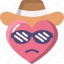 cool, emoji, emotion, feeling, heart, love, valentine