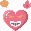 emoji, emotion, feeling, heart, love, mad, valentine