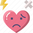 emoji, emotion, feeling, heart, hurt, love, valentine