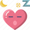 emoji, emotion, feeling, heart, love, sleepy, valentine