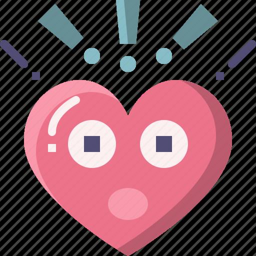 Emoji, emotion, feeling, heart, love, surprised, valentine icon - Download on Iconfinder