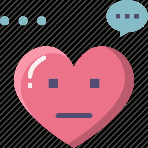 emoji, emotion, feeling, heart, love, nomal, valentine icon