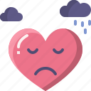 emoji, emotion, feeling, heart, love, sad, valentine