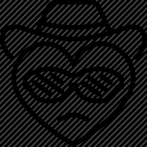 Cool, emoji, emotion, feeling, heart, love, valentine icon - Download on Iconfinder