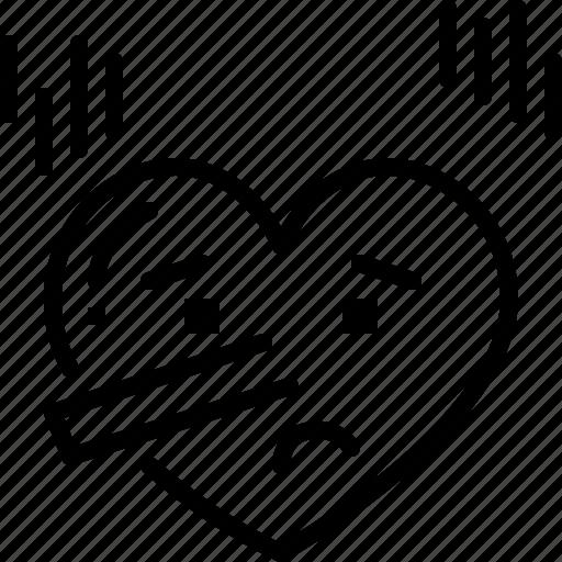 Emoji, emotion, feeling, heart, love, lying, valentine icon - Download on Iconfinder